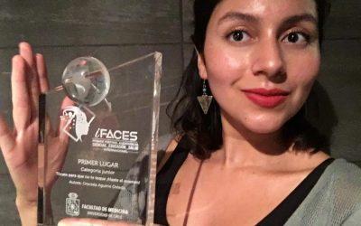 Egresada de Enfermería UDA recibió premio iFACES: Primer Festival Audiovisual en Ciencias de Educación Salud