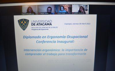 Inicia la 2ª versión del Diplomado Ergonomía Ocupacional UDA con la bienvenida a estudiantes 2021