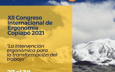 """En Copiapó se realizará el XII Congreso Internacional de Ergonomía 2021 """"La Intervención ergonómica para la transformación del trabajo"""""""
