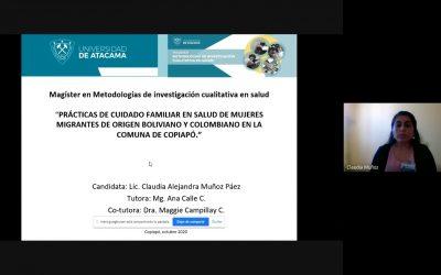 Programa Inter Facultad gradúa a su séptima Magíster en Metodologías en Investigación Cualitativa en Salud