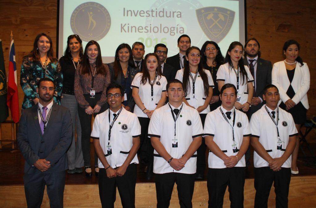 Kinesiología UDA celebró la investidura para sus estudiantes que comienzan prácticas intermedias