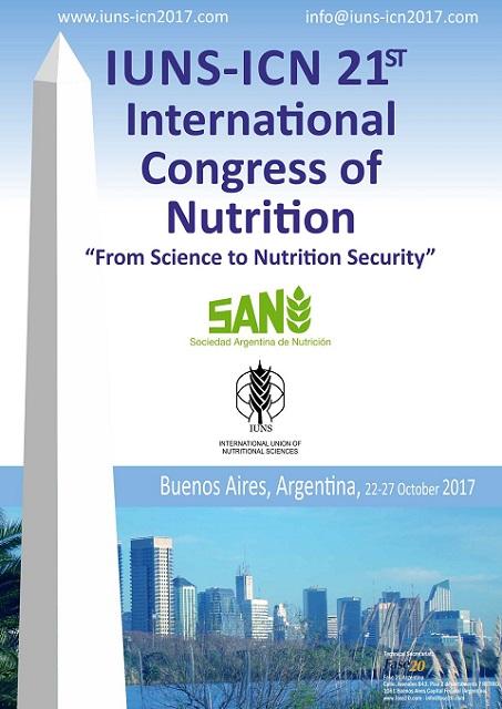 """Académicos-investigadores representan al Departamento de Nutrición y Dietética de la Universidad de Atacama en el """"IUNS 21st ICN, International Congress of Nutrition: From Sciences to Nutrition Security"""""""