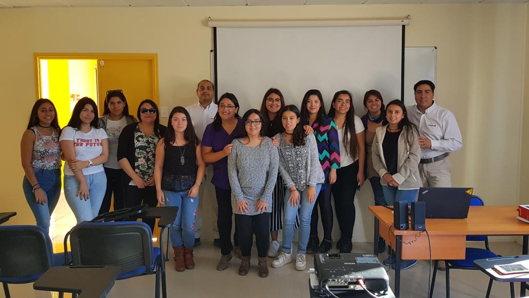 Inducción de Administradores de Empresa Aramark S.A. a estudiantes de Nutrición y Dietética