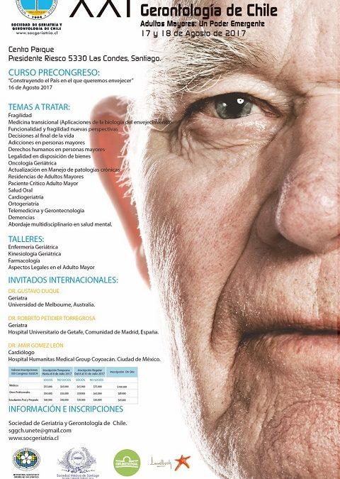 Participación Departamento de Nutrición y Dietética en XXI Congreso de Geriatría y Gerontología de Chile