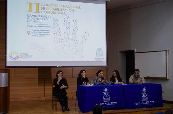 Académica de la Facultad de Ciencias de la Salud expone en II Congreso Nacional de Rehabilitación Comunitaria: camino hacia un desarrollo inclusivo