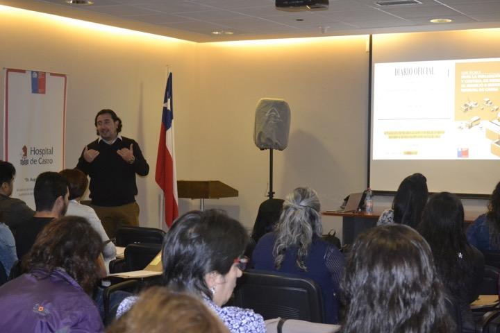 Académicos de la UDA realizaron actividades de Vinculación sobre Ergonomía en Hospitales en Chiloé