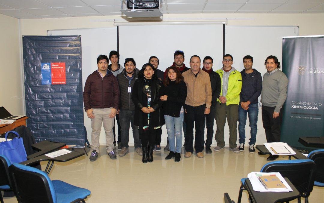 Académicos de la UDA dictan Curso en Métodos de Evaluación Inicial del Riesgo por Manejo Manual de Cargas en Copiapó