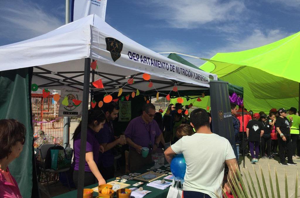 Nutrición y Dietética de la UDA participó en actividad dedicada a los niños en Parque Kaukari.