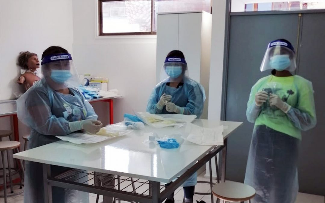 Enfermería inició actividades presenciales con Laboratorios de Proceso Atención Enfermería