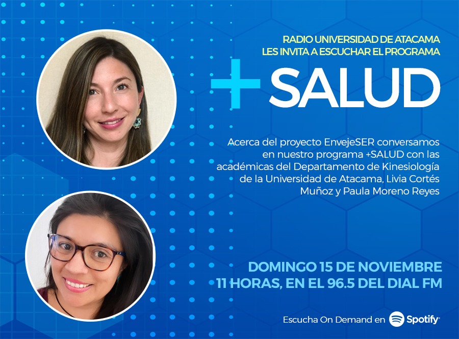 Podcast +SALUD concluyó primera temporada disponible por plataformas digitales y Radio UDA